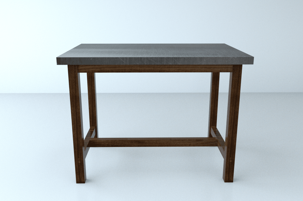 Steel and Walnut Dining Table – London